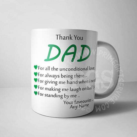Thank you Dad Personalised Mug