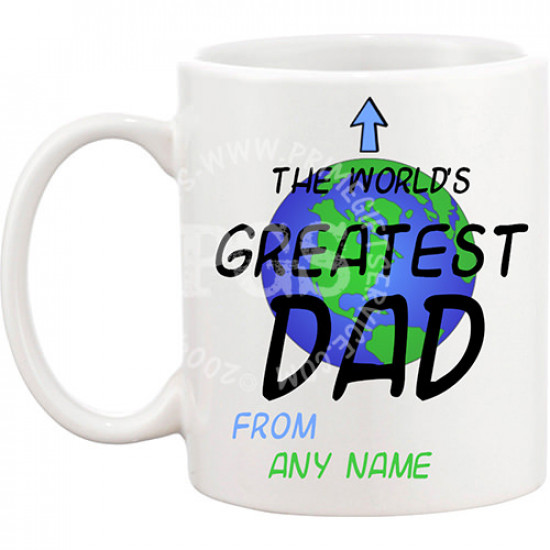 Worlds Greatest DAD Personlised Mug