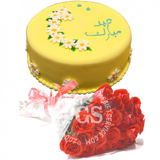 Free Roses with Eid Cake