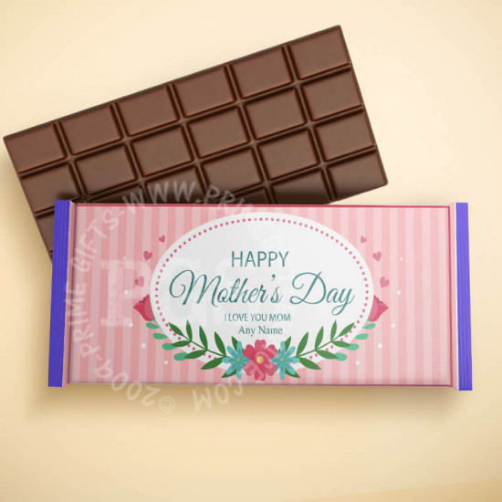 Personalised Pink Stripes Chocolate for Mother