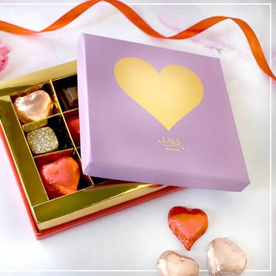 Lilac Heart Chocolate Box