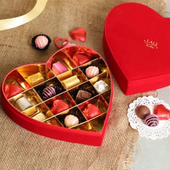Lals Chocolates Heart Box