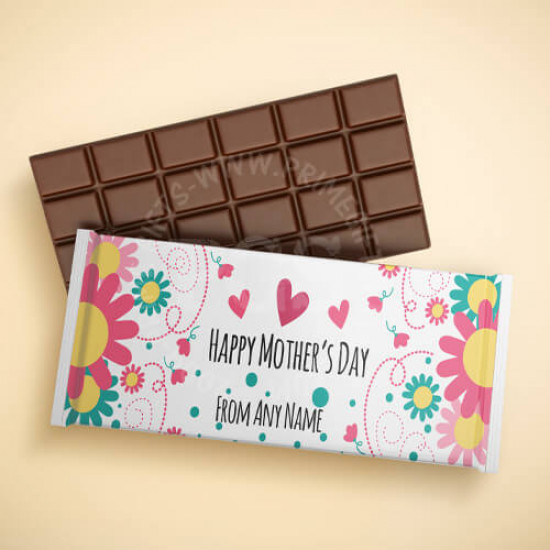 Happy Mothers Day Personalised Chocolate Bar