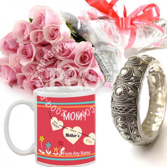 Personalised Mug with Roses and Kangan