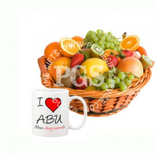 Fruit Basket with Dad Mug