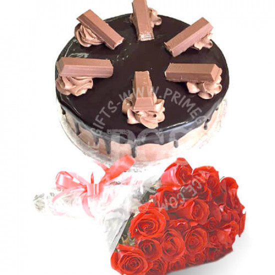 2Lbs Masoom Bakers Cake and Roses