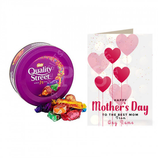 Mothers Day Deal of Card with Quality Street Chocolates