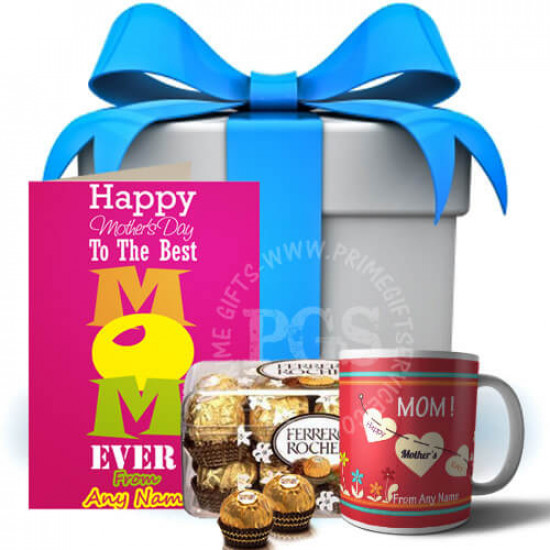 Personalised Card and Mug with Chocolates