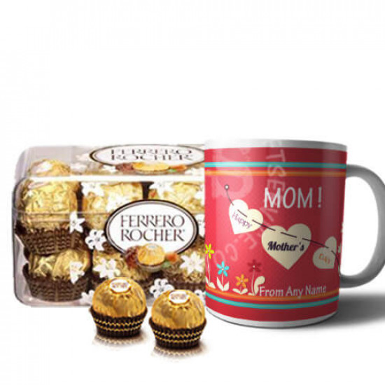 Mothers Day Personalised Mug with Chocolates