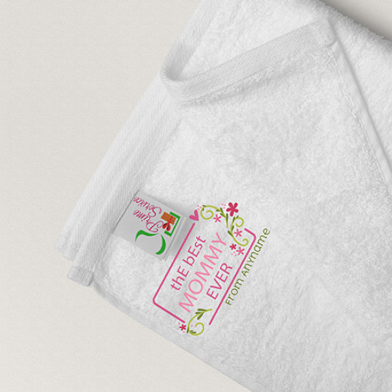 Best Mommy Ever Personalised Towel