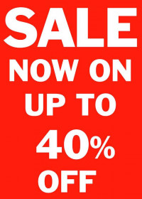 Sell upto 40% OFF
